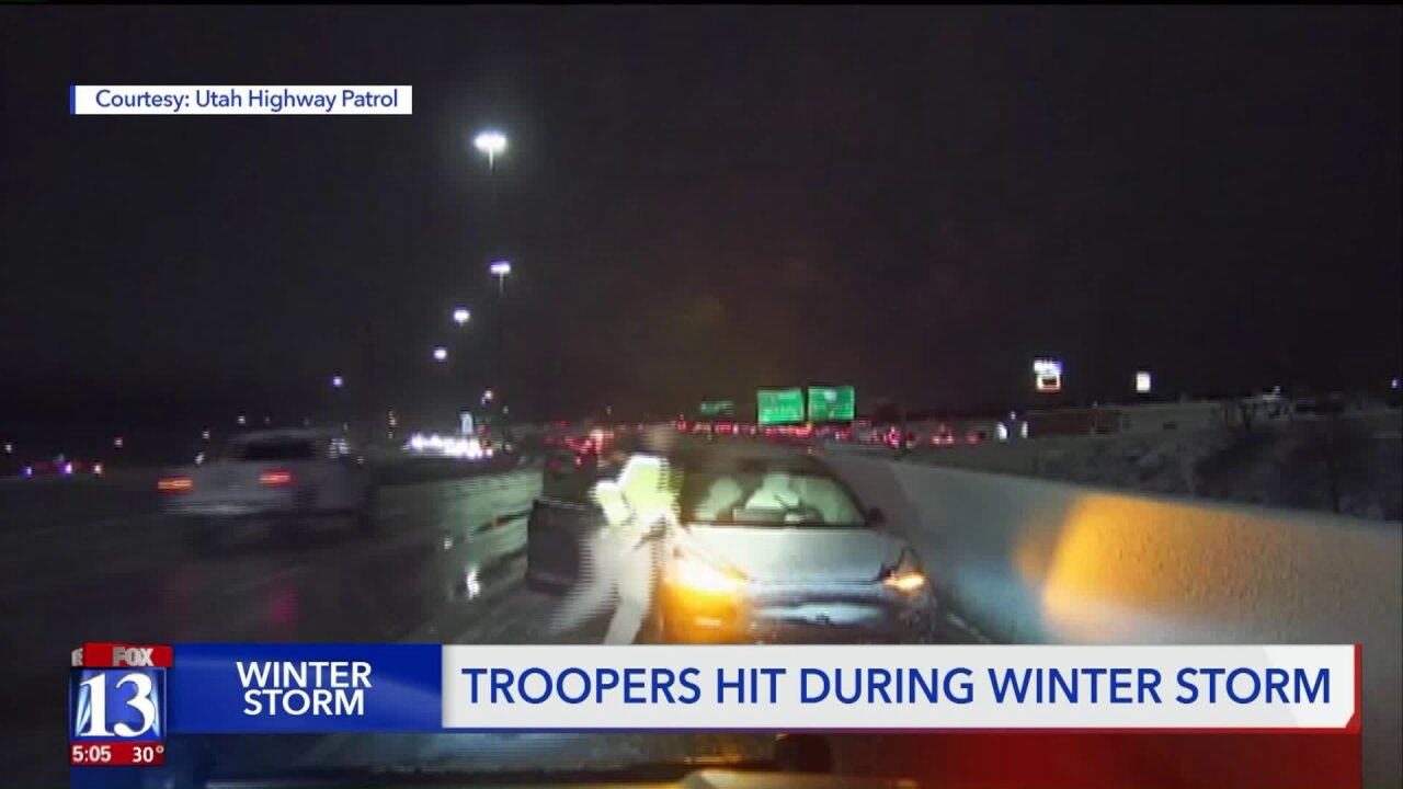 Dashcam shows UHP trooper narrowly escaping out-of-control driver