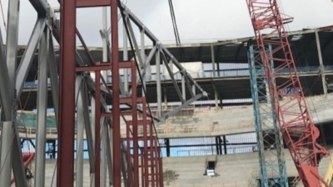 Roof installation begins on new Bucks arena