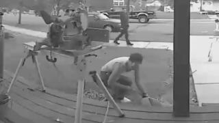 Caught on camera: men steal saw from Belgrade man's front porch