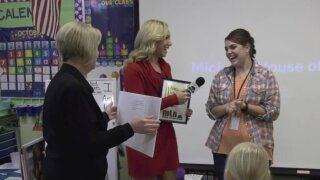 Saddle Peak Elementary School awarded One Class At A Time check