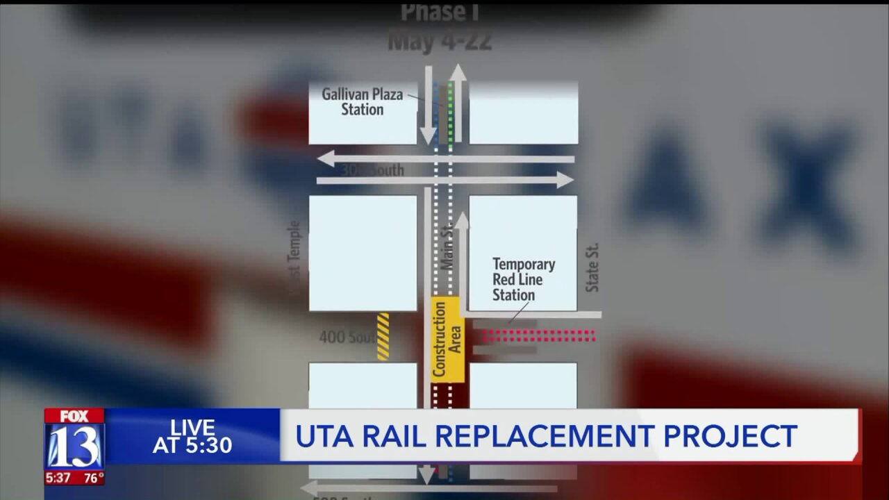 Significant TRAX rail replacement project to delay riders downtown