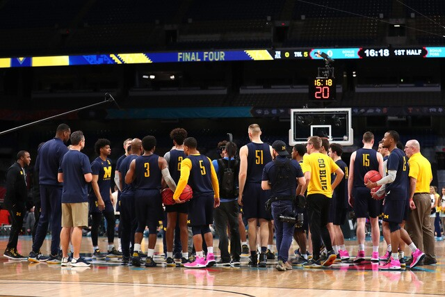 PHOTO GALLERY: Michigan practices at Final Four in San Antonio
