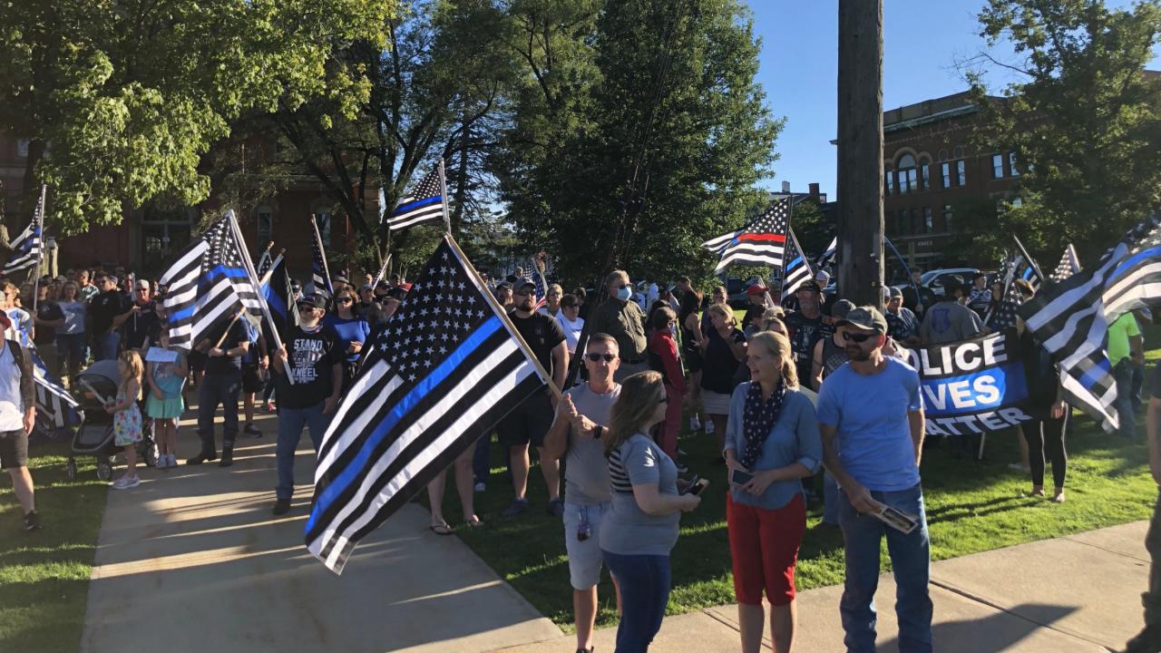 Blue Lives Matter rally