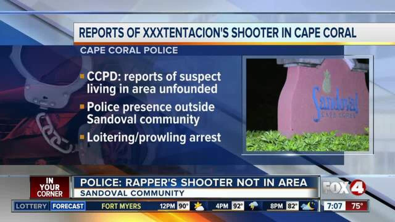 XXXtentacion killing suspect not in Cape Coral