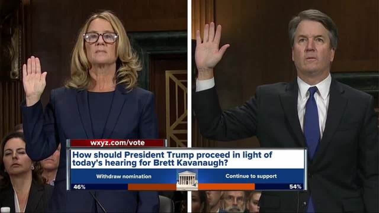 Metro-Detroiters react to Kavanaugh hearings