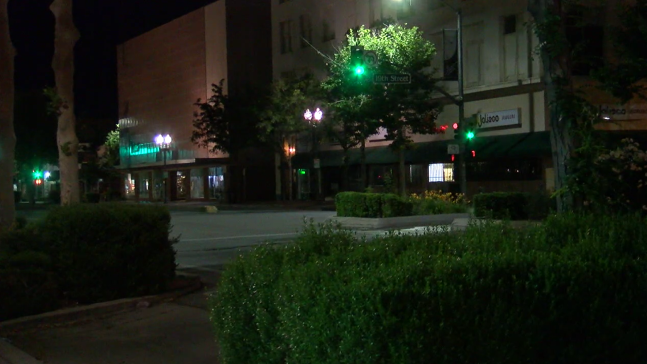 Downtown Bakersfield at Night
