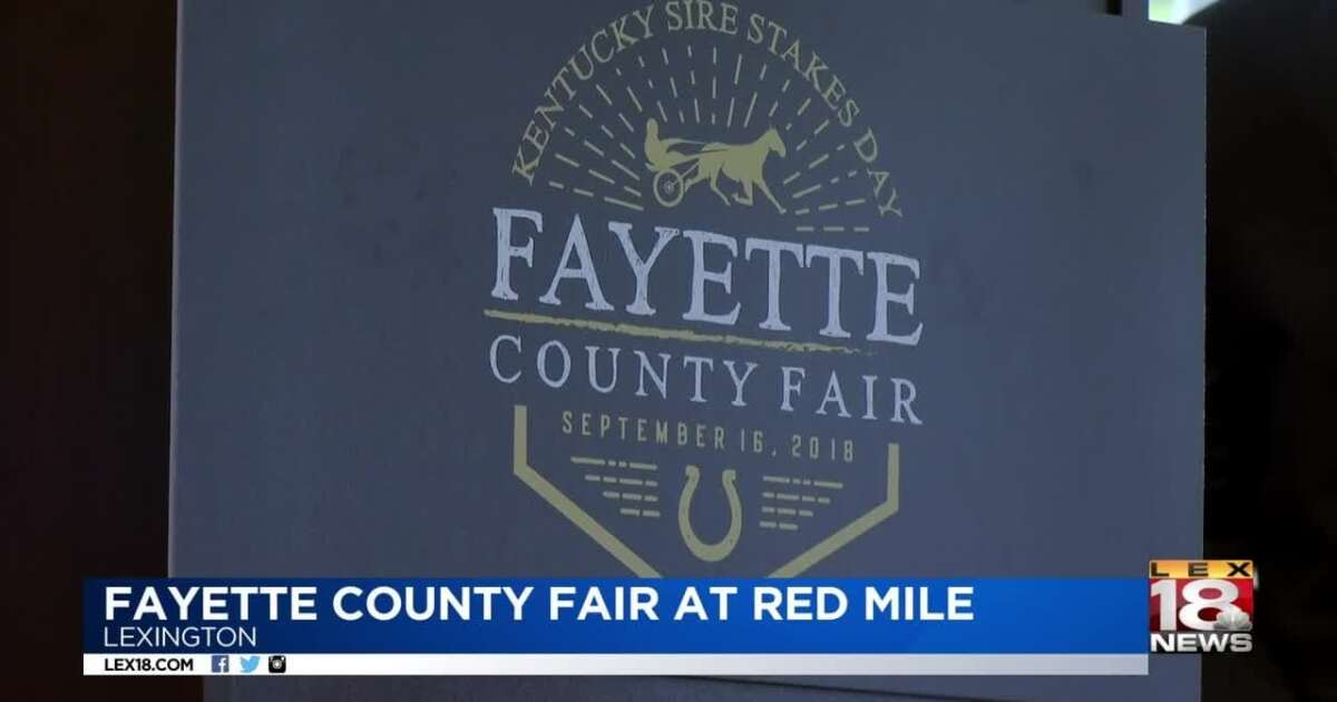 Fayette County Fair Coming To Red Mile In September