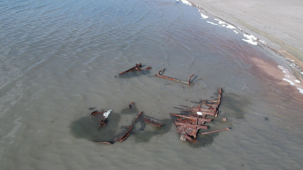 Recent storm uncovers Great Salt Lake shipwreck buried in sand for 100 years