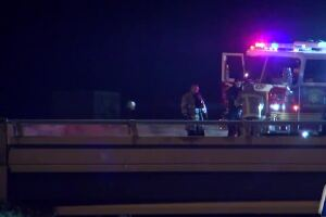 Early morning fatality on I-37, car 'engulfed in flames'