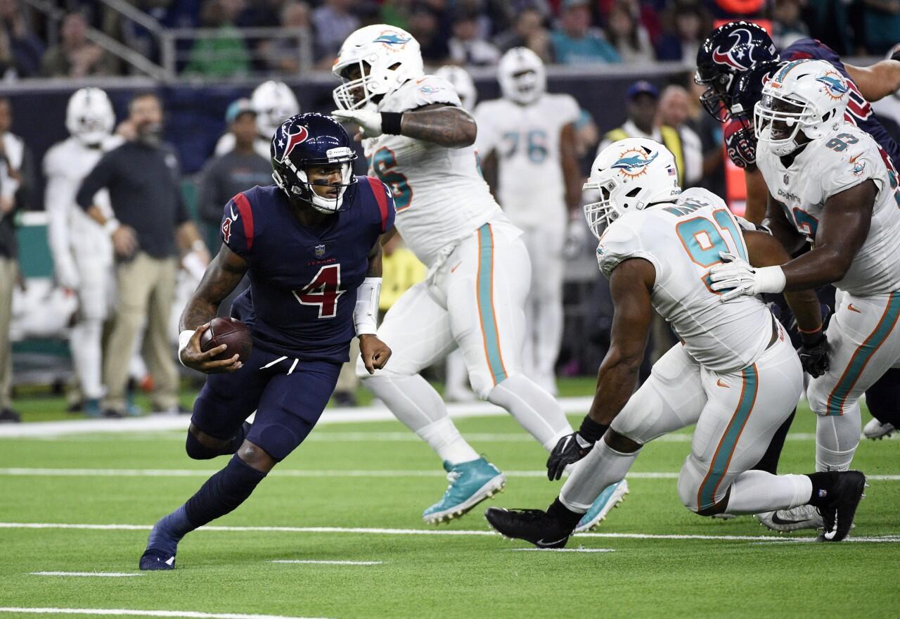 Houston Texans QB Deshaun Watson vs. Miami Dolphins in 2018