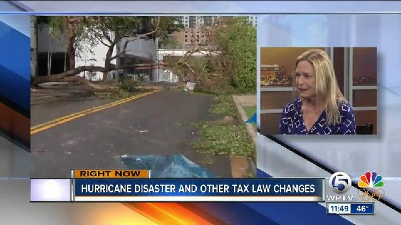 Hurricane disaster and other tax law changes