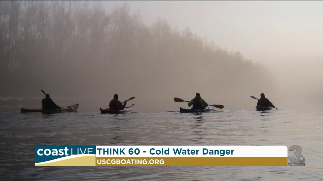 Learning about the dangers of cold water in Spring on CoastLive