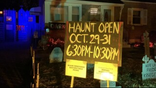 Darkorners haunted house in Kenmore raising money for cancer for research for 3 nights