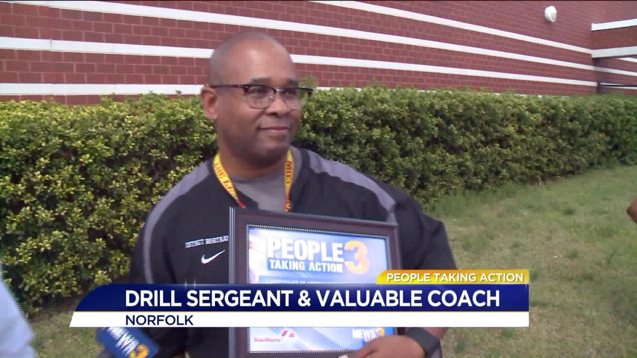 Norfolk drill sergeant and coach inspires, motivates students