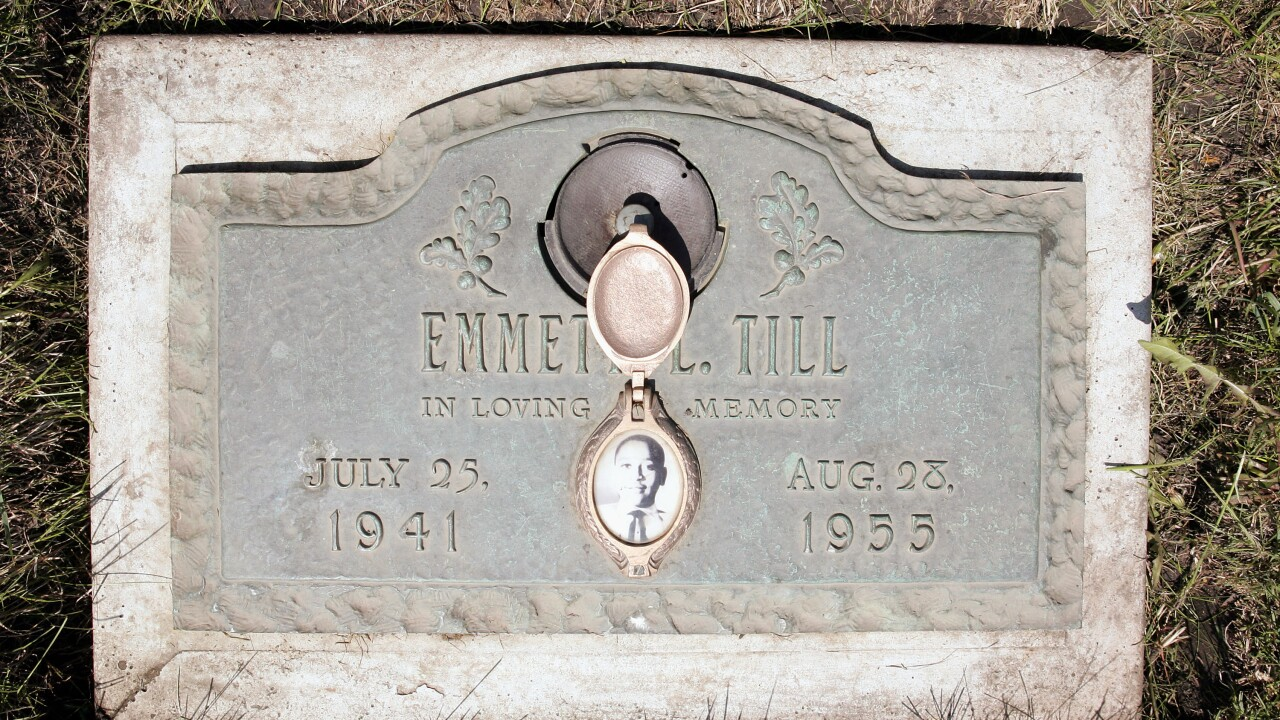 Emmett Till memorial sign in Mississippi now protected by bulletproof glass