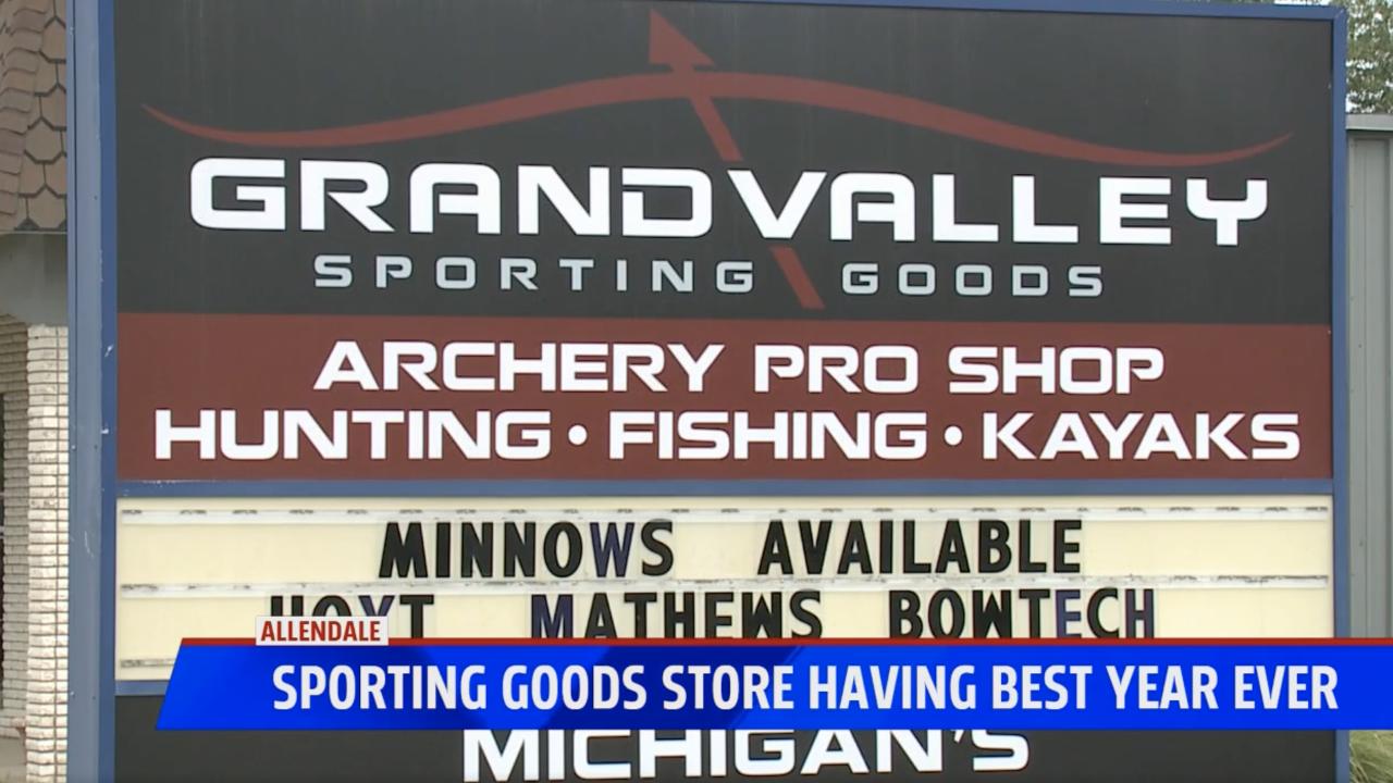 Sporting goods store having best year ever