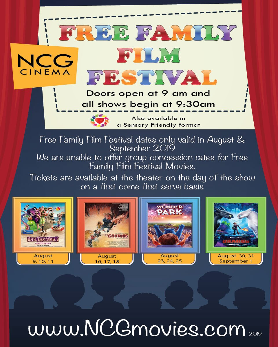 NCG Cinema-Free Family Film Festival