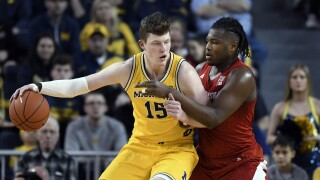 Jon Teske Nebraska Michigan Basketball