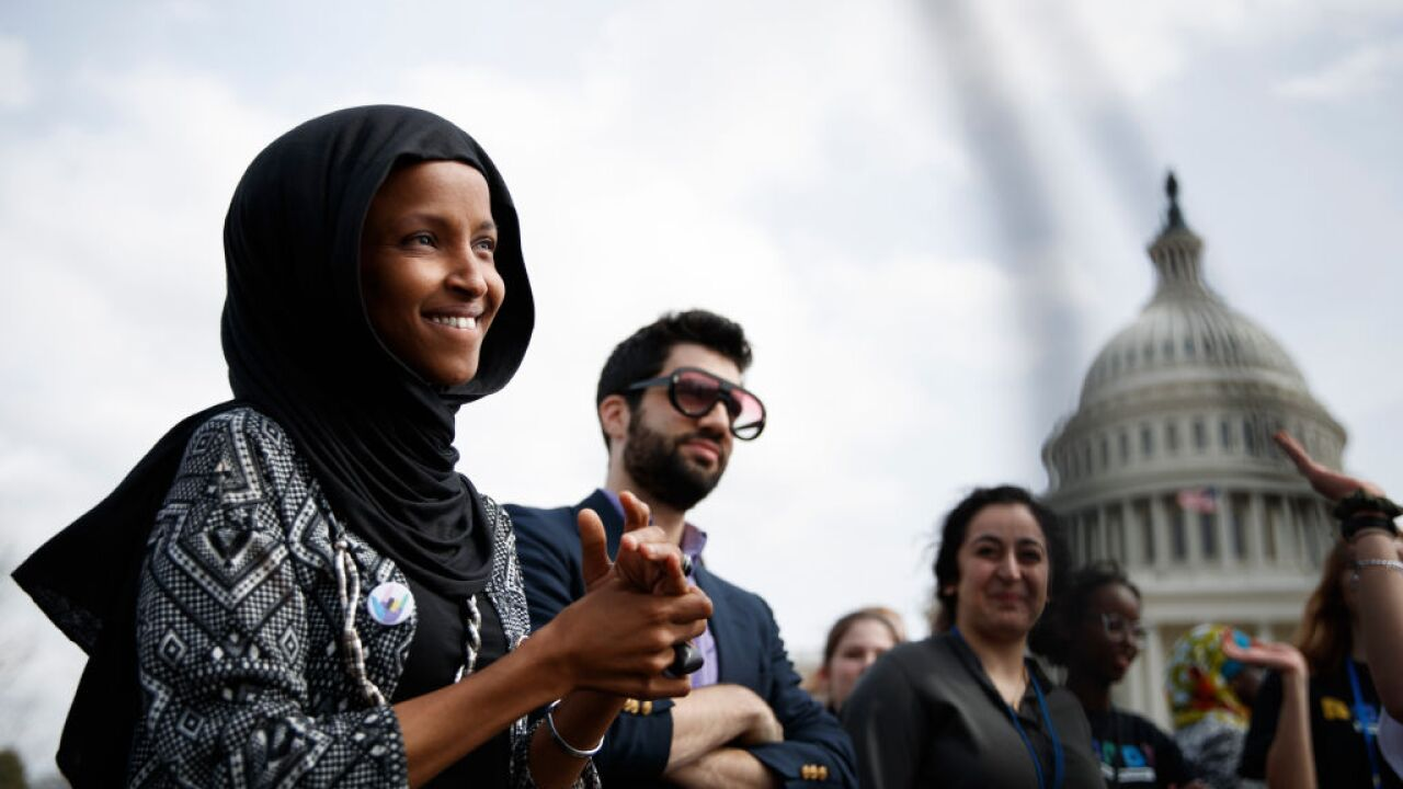 Rep. Ilhan Omar greeted with chants of 'welcome home' at Minnesota airport