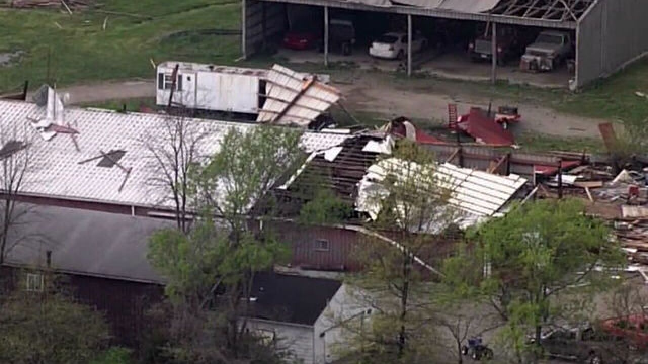 PHOTOS: Damage from tornado in Boone County