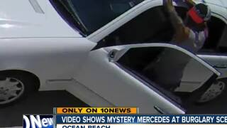 Video shows mystery Mercedes at burglary scene