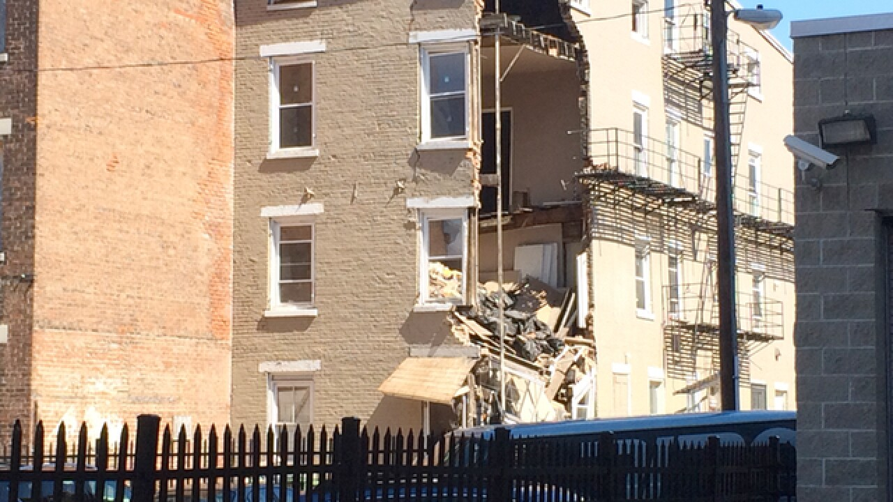 Building partially collapses in Over-the-Rhine