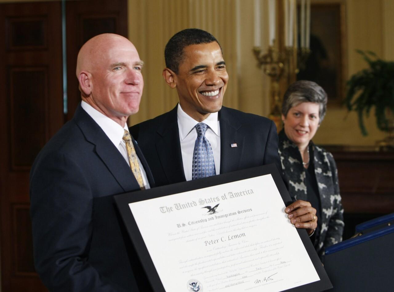 Barack Obama, Janet Napolitano, Peter Lemon