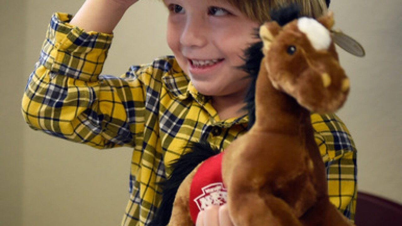NFR cowboys visit Grant a Gift Autism Foundation