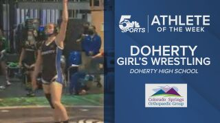 KOAA Athlete of the Week: Doherty girl's wrestling