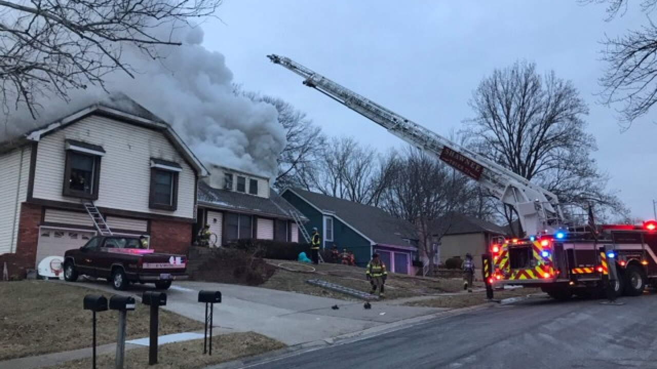 Two people displaced, dog dies in Shawnee house fire