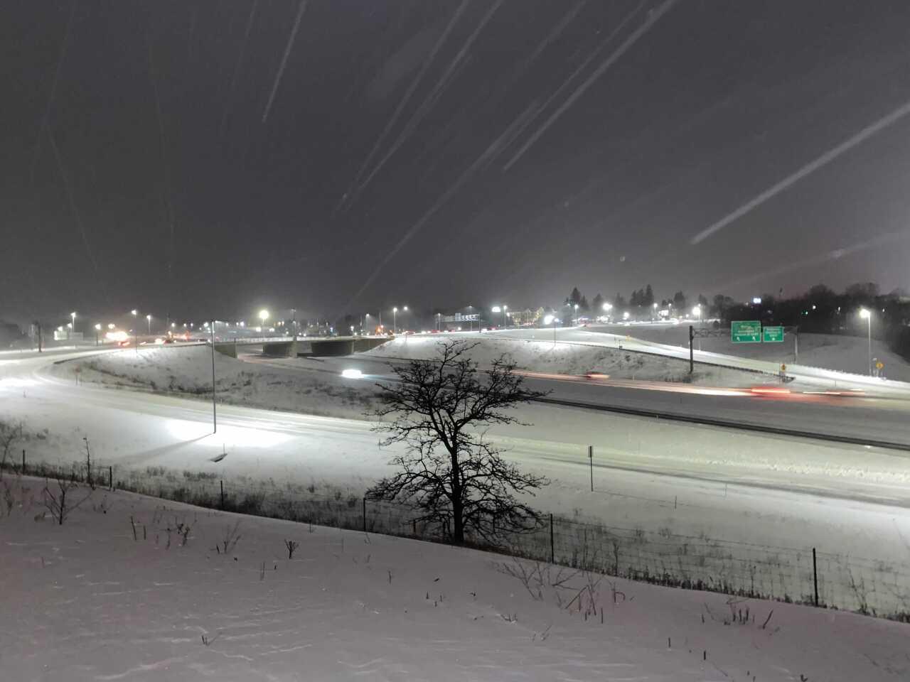 I-94 near Stadium Drive in Kalamazoo after snowfall 2/16/2021
