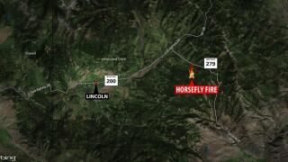 Horsefly Fire grows to nearly 1300 acres