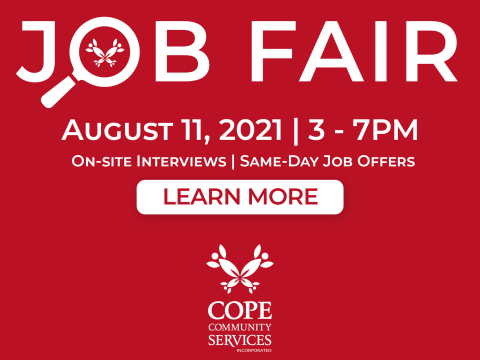 REGISTER TO ATTEND COPE's UPCOMING JOB FAIR!