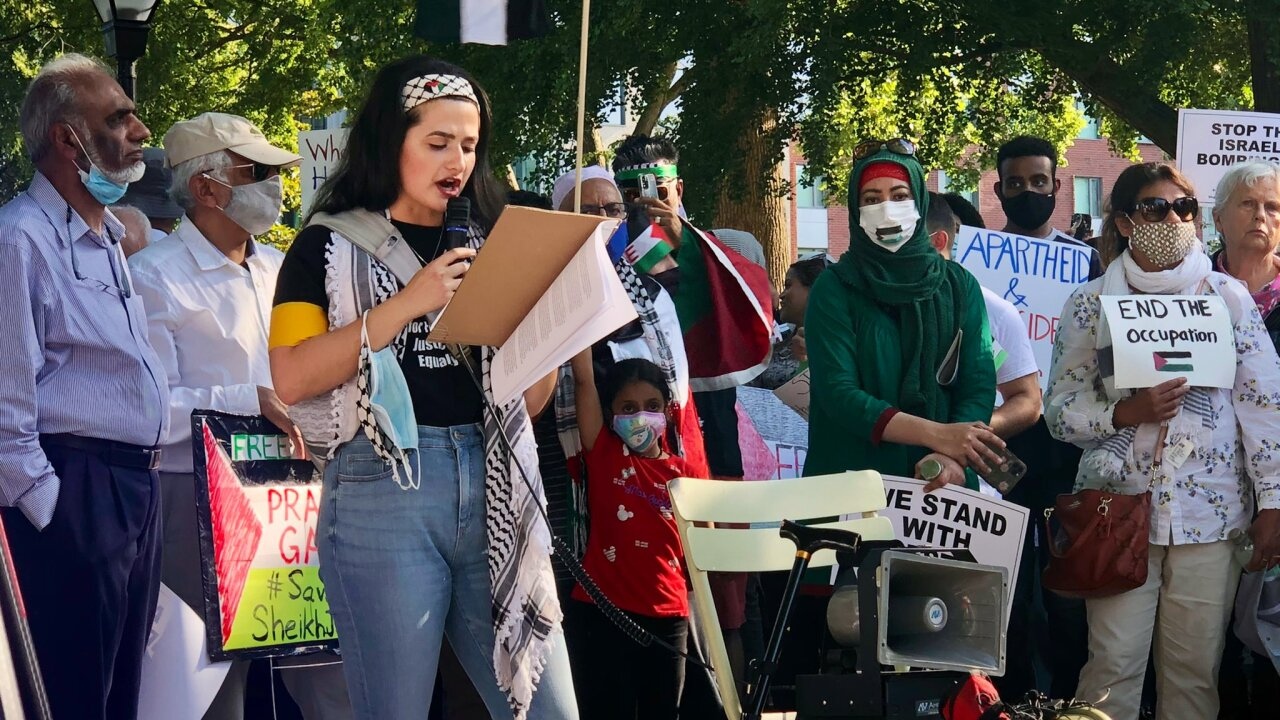 Richmonders rally for Palestine in Monroe Park: 'We can affect change here'
