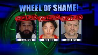 Wheel of Shame Fugitives Arrested: Jesse Arriola, Julie Cantu & Jessie Garcia
