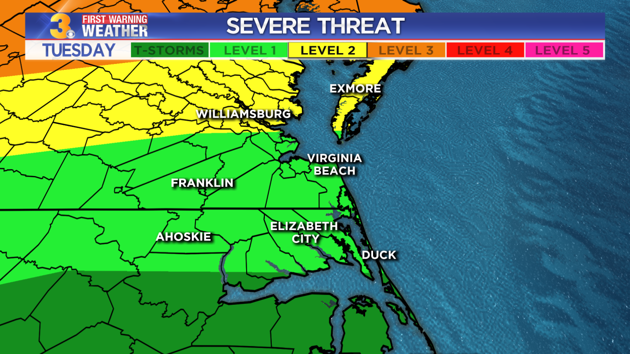 First Warning Forecast: Tracking the threat of severe weather late Tuesday