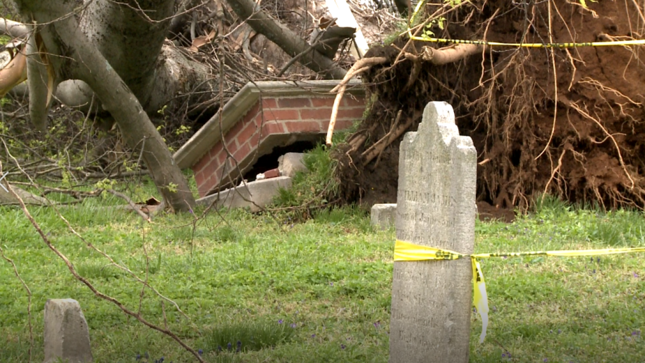 City Cemetery damages