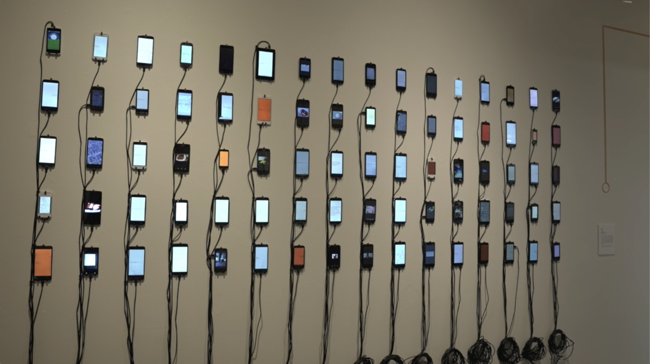 """The piece """"Undeleted"""" represents the ways in which our personal data can still be stolen from our phones even after we discard them"""