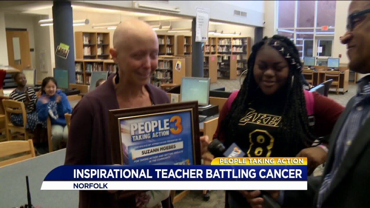 People Taking Action: Local teacher battling cancer is like a second mom to her students!
