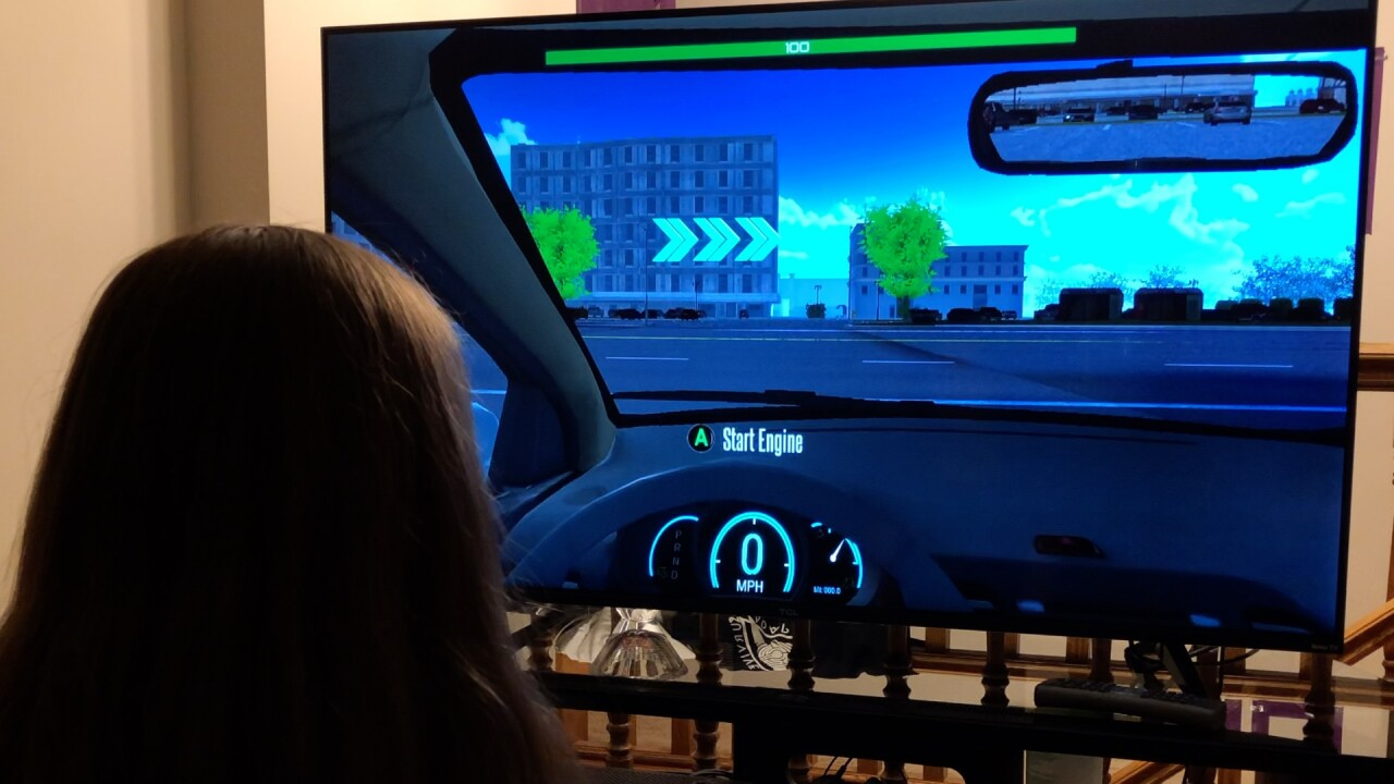 Utah teens learning how to drive using videogame