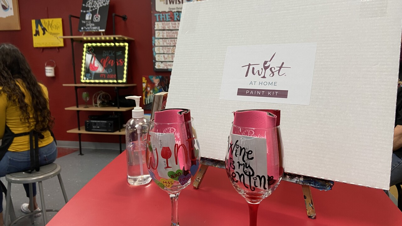 Painting with a Twist take home kit accessible to anyone