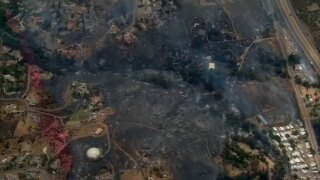 Photos showing before and after West Fire destroyed San Diego neighborhoods