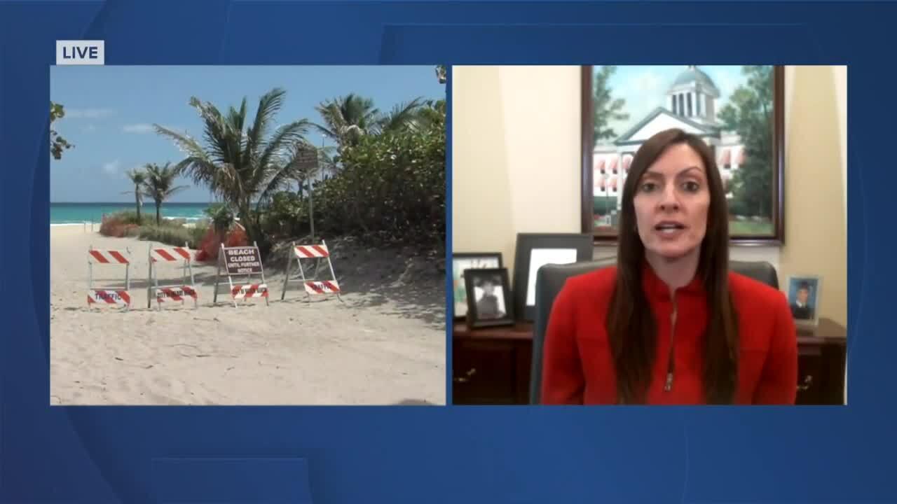 Lt. Gov. Jeanette Nunez on beaches closed