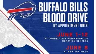 Buffalo Bills hosting blood drives throughout Western New York all week