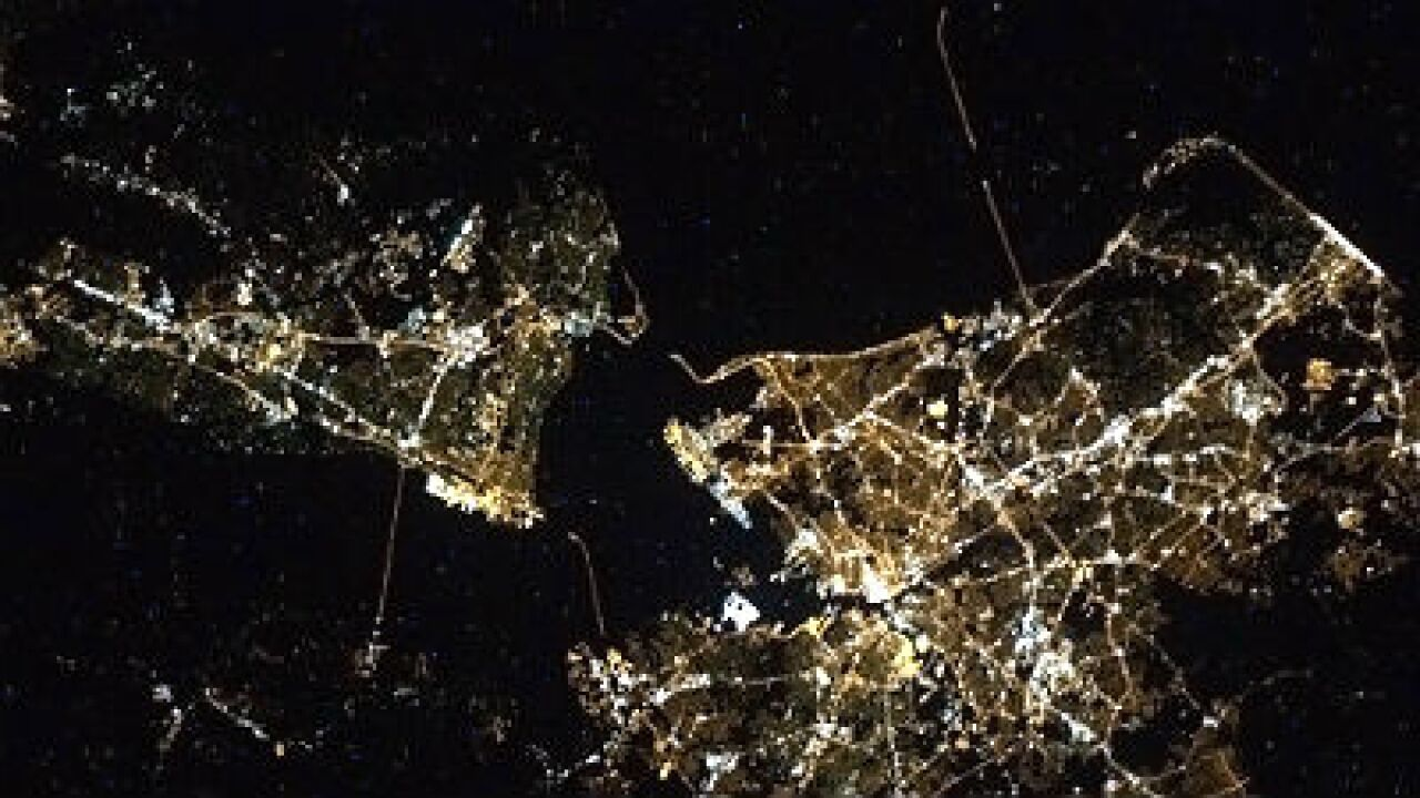 Astronauts aboard the ISS can count the bridges in Hampton Roads from space