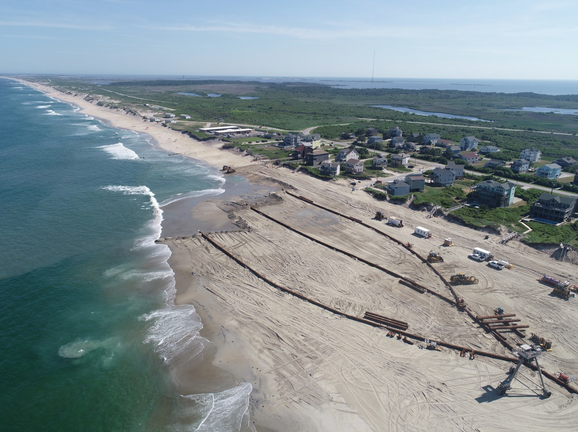 Photos: Nags Head beach nourishment project now underway