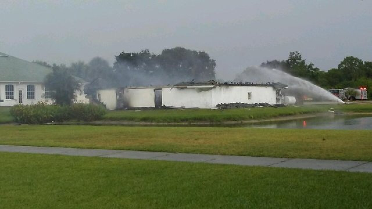 Crews respond to structure fire at Rotonda Golf and Country Club