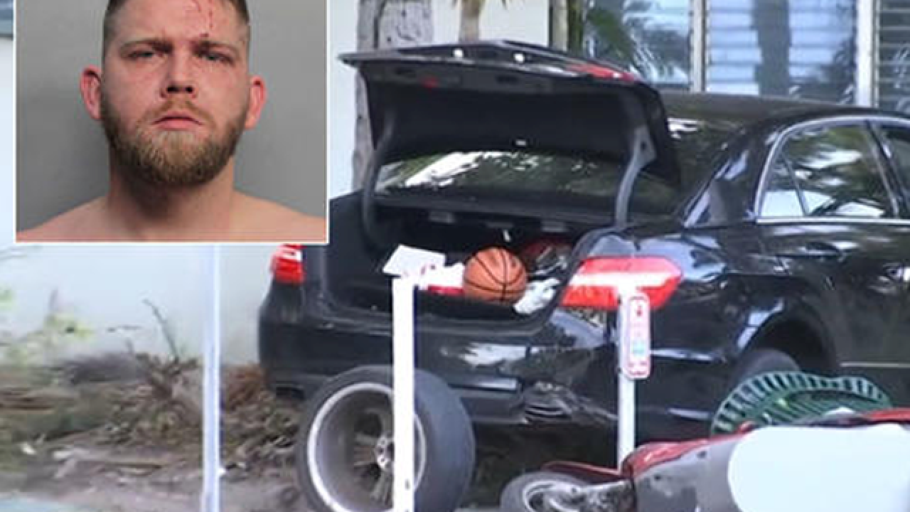 Car strikes 3 adults, 2 infants on Miami Beach street; driver arrested
