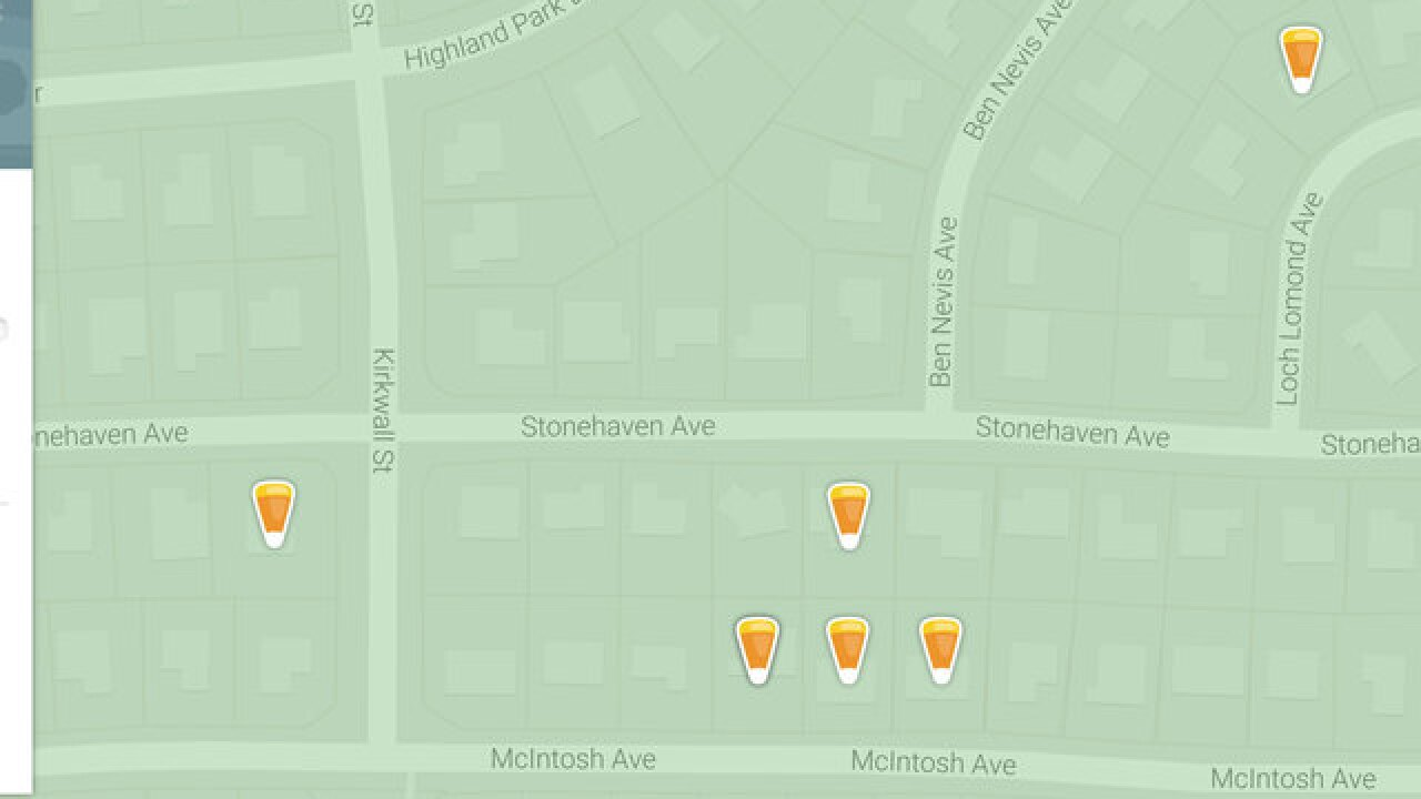 Nextdoor.com offers Halloween Treat Map for families searching for on