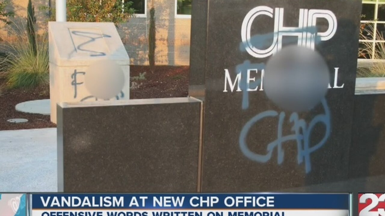 CHP Fallen Officer Memorial defaced with paint